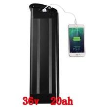 36 В 1000 Вт батарея 36 В 20AH Серебряная рыба Электрический велосипед батарея с USB портом 36 В литиевая attery с 30A BMS и 42 в 2A зарядное устройство