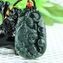 Natural Hetian jade hand-carved zodiac tiger pendant necklace jewelry for men and women
