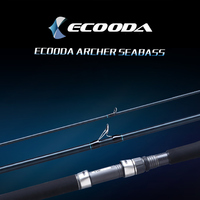 Ecooda Sea Bass Spinning Fishing Rod 3 Section Power MH and H Carbon Lure Rods Bass Pesca Stick Saltwater Fishing Tackle