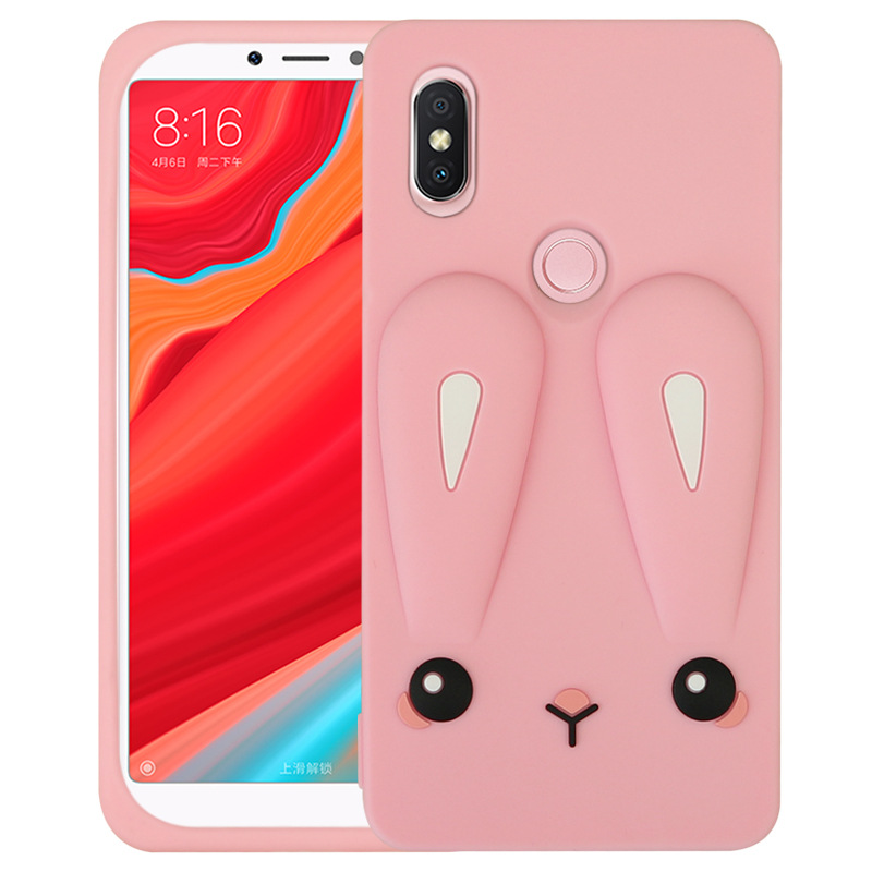 3D Cute Cartoon Rabbit Case Cover for Xiaomi Redmi Note 5 Case Rubber Soft Silicone Cases for Redmi Note5 Phone Cases Capa