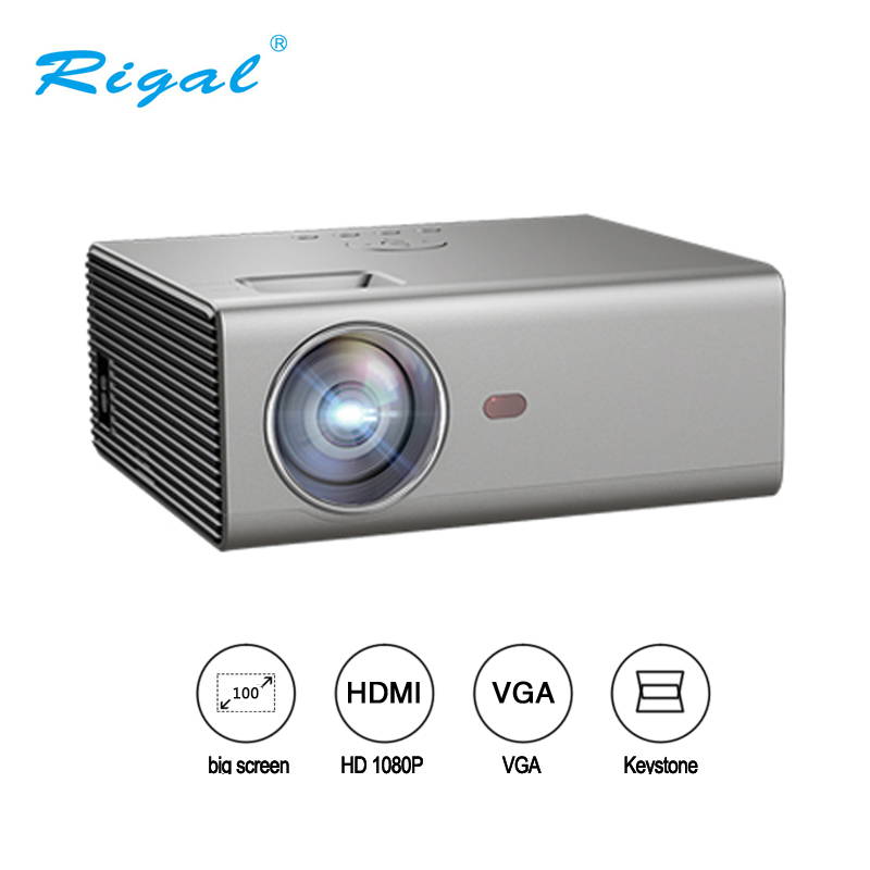 Rigal RD825 LED Projector 2000 lumen 3.5mm Audio 1280*720 Pixels HDMI USB Mini Projector Home Media Player Projector magnetic attraction bluetooth earphone headset waterproof sports 4.2