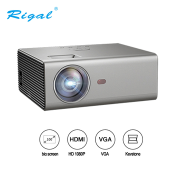 Rigal RD825 LED Projector 2000 lumen 3.5mm Audio 1280*720 Pixels HDMI USB Mini Projector Home Media Player Projector