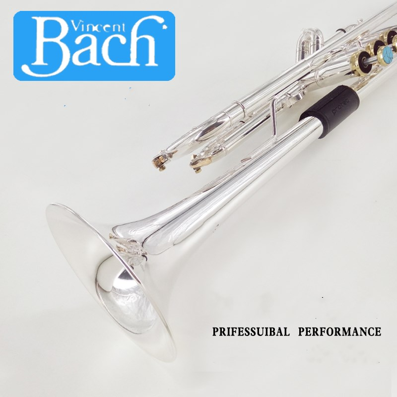 Trumpet Bach Silver LT190S-37 B flat professional trumpet bell Top musical instruments Brass horn trumpet new bach silver plated body gold key lt190s 85 b flat professional trumpet bell top musical instruments brass