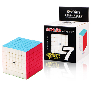 Image 5 - Qiyi Mofangge QiXing Cubo de magia negra sin pegatinas, Cubo de 7x7x7, rompecabezas de 7 capas, juguetes educativos profesionales para niños, regalo