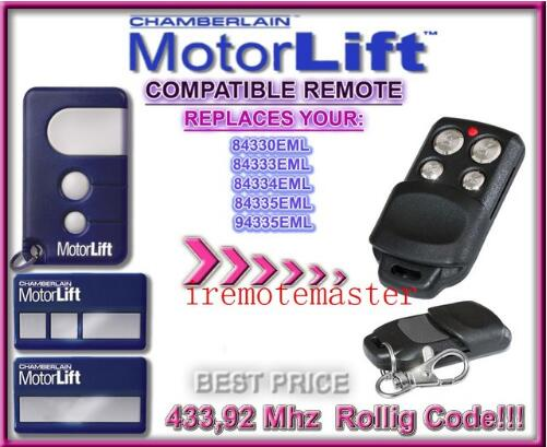 Good news! MOTORLIFT 84330e 84335e 84334e replacement remote control high quality and favorable price high quality and favorable price for ecp garage door replacement remote