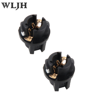 100pcs T5 Twist Lock Socket Wedge Base 3 8 Socket Dashboard Instrument Panel Cluster Plug Lamp