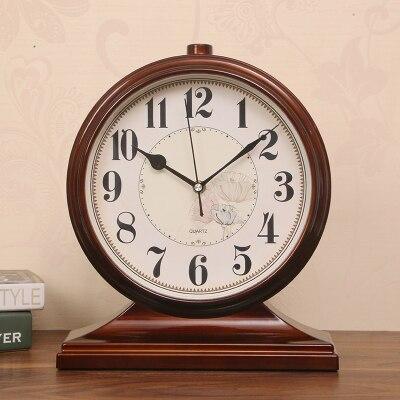 Bureau décoration ameublement bureau chambre alarme muet rétro Silence pendule Table Quartz horloge nuit bureau Vintage horloge LY451 - 3
