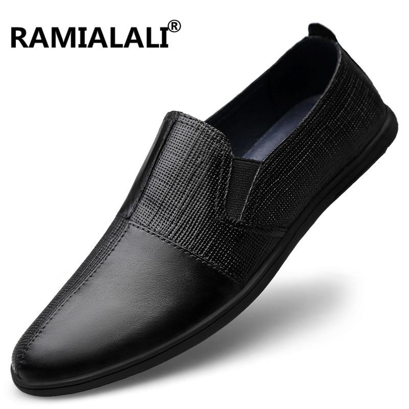Sur Mode Noir En Bateau Hommes Haute Cuir De Casual Qualité Véritable Mocassins Slip Vache Chaussures Appartements xqwPg4OZ