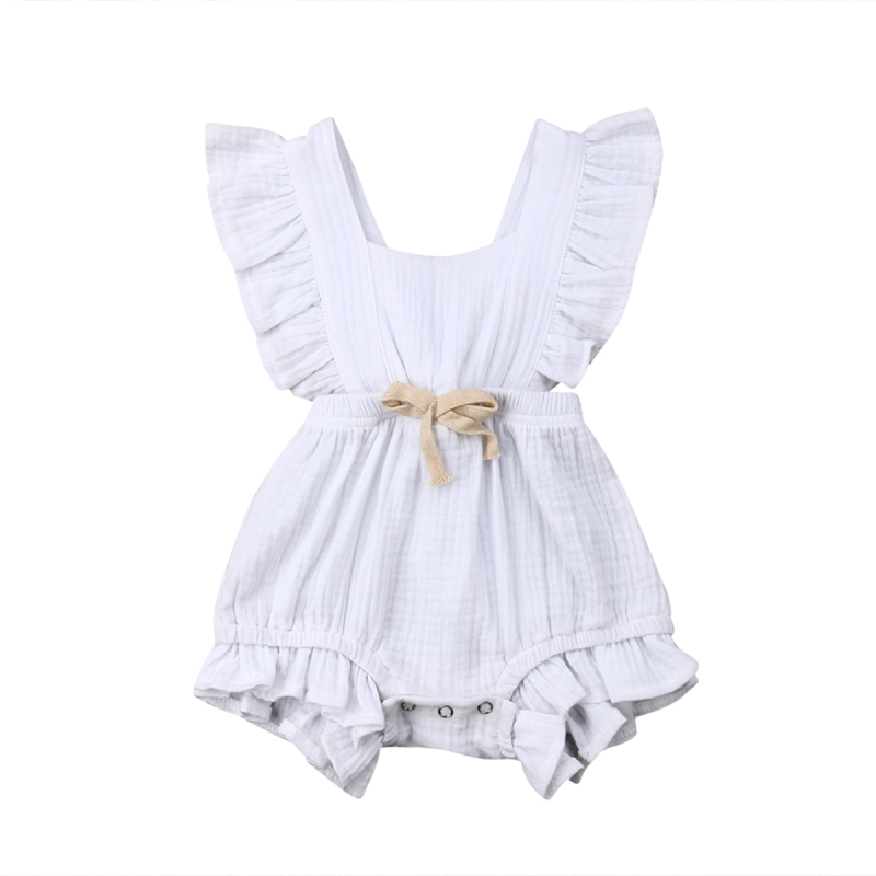 HTB1Sa06aynrK1Rjy1Xcq6yeDVXaw 6 Color Cute Baby Girl Ruffle Solid Color Romper  Jumpsuit Outfits Sunsuit for Newborn Infant Children Clothes Kid Clothing