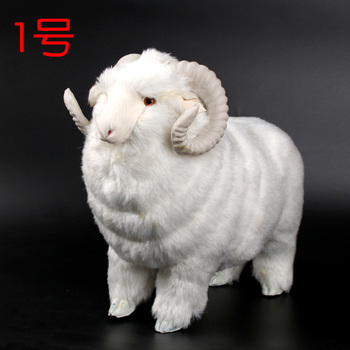 artificial sheep large 36x16x27cm model,polyethylene&furs white sheep handicraft home decoration gift a1552