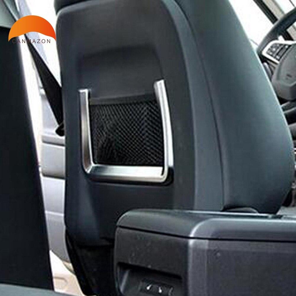 Pour Jaguar f-pace 2016 2017 2018 mat ABS siège avant de voiture filet de rangement sac cercle décoratif couverture cadre garniture accessoires autocollant