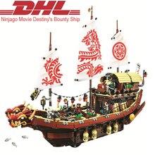 2017 New 2363Pcs Ninja Movie Destiny's Bounty Ship Model Building Kits Blocks Bricks Toy For Children Christmas Compatible 70618