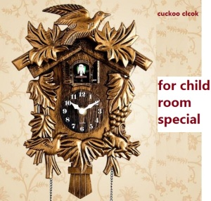 Image 4 - Cuckoo Clock Hourly Tell Time Cartoon Cute Hut Children Room Wall Clock Sitting Room Watch Children room Bedroom Wall Clock