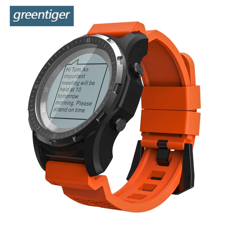 Greentiger S966 GPS Smart Watch Men Heart Rate Monitor Air Pressure Fitness Tracker Wristwatch Compass Altitude Sport Smartwatch