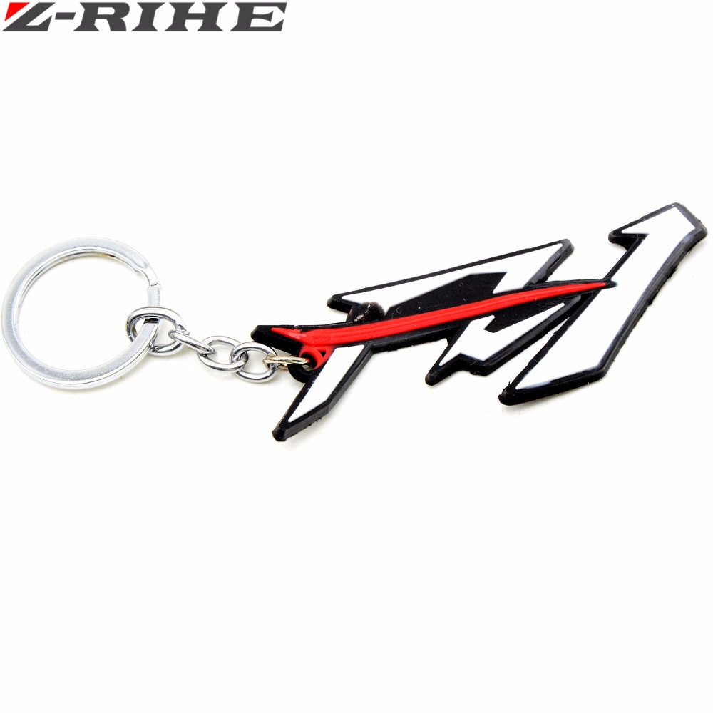 Motorcycle Accessories Racing Soft Rubber Motorbike Key Ring Keychain White FOR Yamaha YZF R1 YZFR1 Yfz R1 Yamaha
