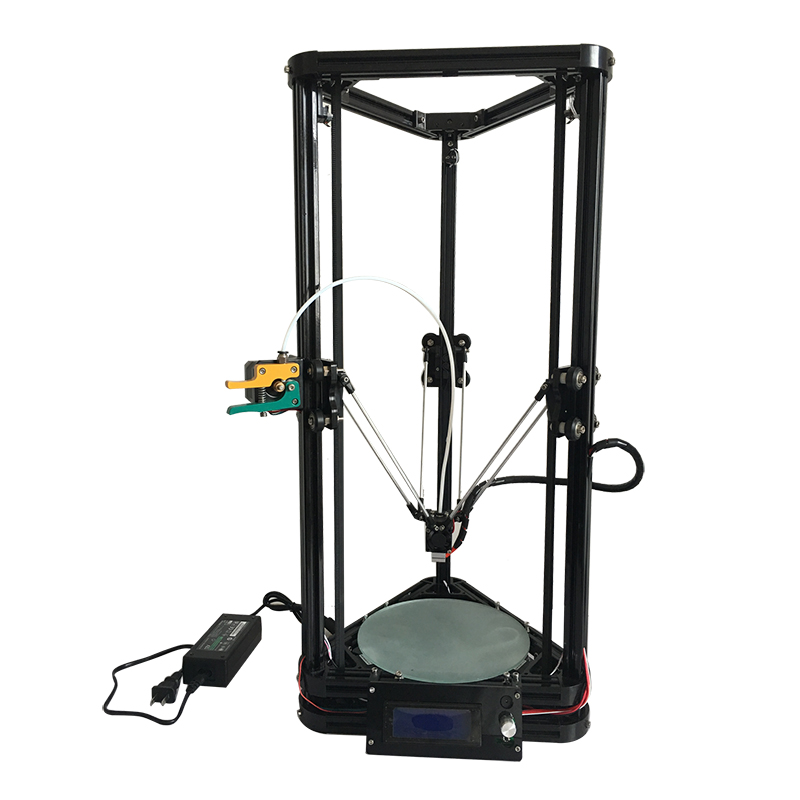 High precision HE3D reprap K200 delta 3D printer auto leveling full metal long distance extruder