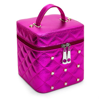 2019 Hot Sales Free Shipping High Grade Makeup Cases PU Leather Makeup Box With mirror Cosmetic Case Cube Makeup Bags free shipping 2013 new arrival 12pcs natural goat hair purple makeup brushes sets with free pu leather cylinder dropship