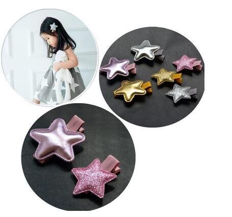 6PCS/SET Star Hairpins Kid Hair Ornaments Hair Jewelry for Children Hair accessores Girls Hair Clip Barrettes Hairpins