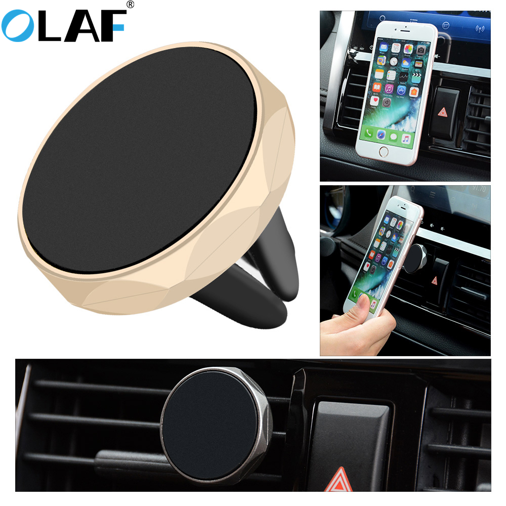 OLAF Magnetic Car Phone Holder Universal Car Air Vent Mount Stand For Iphone Samsung Xiaomi Huawei GPS Magnet Phone Holder