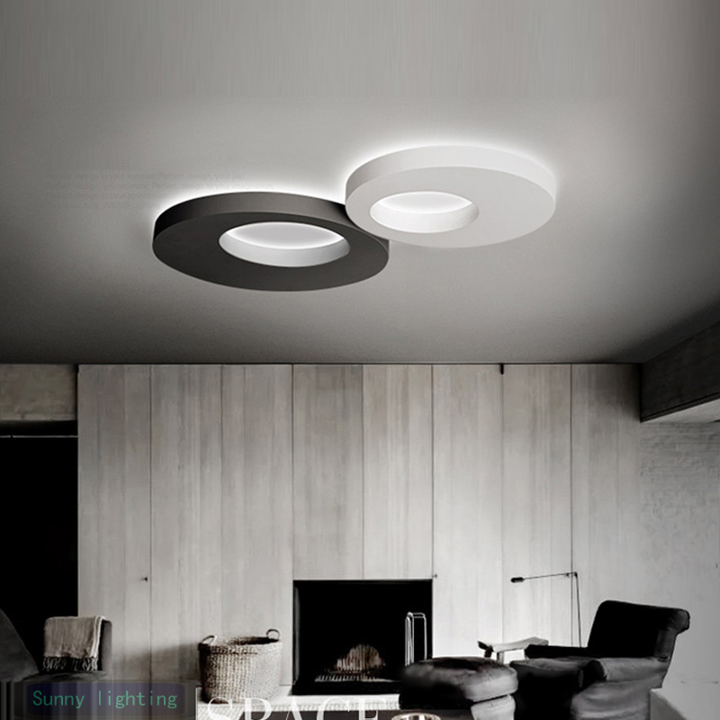 Kitchen Ceiling Lamp led ceiling lights Round Creative Minimalist Modern Corridor Balcony Room Bedroom Living Room Lamps modern minimalist 9w led acrylic circular wall lights white living room bedroom bedside aisle creative ceiling lamp