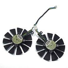 88 мм T129215SU DC 12 В 0.50A кулер вентилятор для ASUS Strix GTX 1050 1060 1070 1080 GTX 970 RX 480 Вентилятор Охлаждения видеокарты