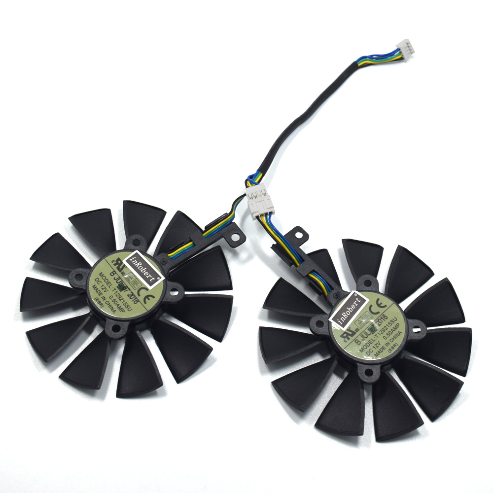 New 88MM T129215SU DC 12V 0.50A Cooler Fan For ASUS Strix GTX 1050 1060 1070 1080 GTX 970 RX 480 Graphics Card Cooling Fan image