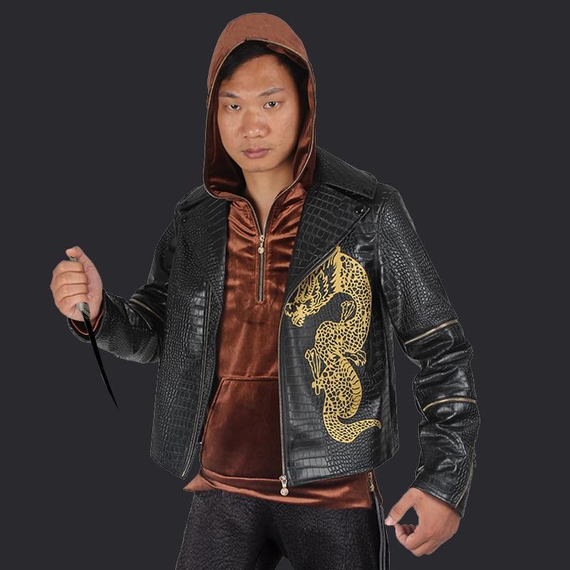 Suicide Squad Whalen Jones Cosplay Costume Suit Coat Jacket Killer Croc Outfit Adult Men Halloween Carnival Party Custom Made