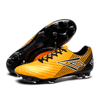 Designer Style Soccer Boots Athletic Soccer Shoes 2018 New Leather Big Size Long Spike Soccer Cleats Training Football Sneaker