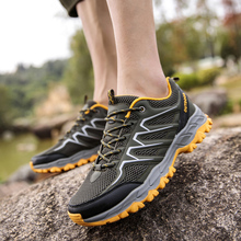 купить New Style Outdoor Men Hiking Shoes Trekking Shoes Sneakers Climbing Mountain Sport Shoes   Non-slip Wear-resistant Travel Shoes дешево