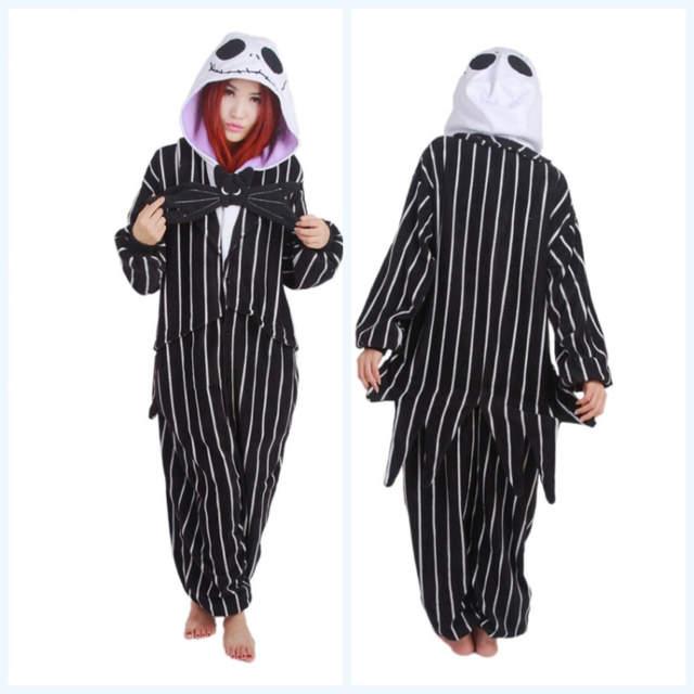 a8c6fa69cb6b placeholder Novelty Pijamas Santa Claus Anime Jack Skellington Skeleton  Adult Pajamas Onesie Winter Sleepwear For Women Home