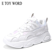 Buy E TOY WORD Women Sneakers Platform Sports Shoes Breathable Women Casual Shoes Woman fashion Height increasing shoes Size 35-40 directly from merchant!