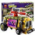627 unids bela nuevos 10211 tortuga mutante adolescente la shellraiser modelo building blocks juguetes de los ladrillos diy compatible con lego