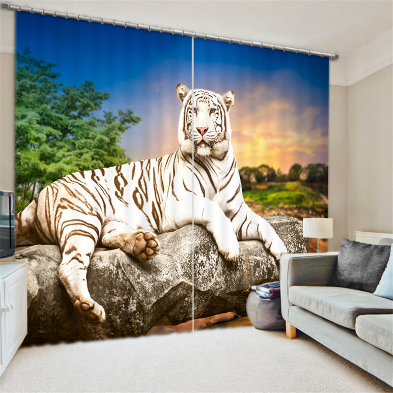 Luxury tiger 3D Blackout Window Curtains For Living room Bedding room Drapes Cotinas para sala DecorativeLuxury tiger 3D Blackout Window Curtains For Living room Bedding room Drapes Cotinas para sala Decorative