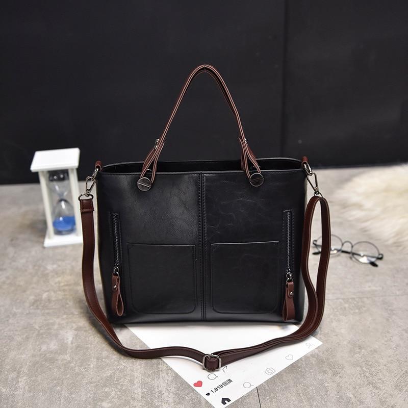 e0d9cac878 Siruiyahan Famale Bag Genuine Leather Bag Women Handbag Luxury Handbags  Women Bags Designer Solid Zipper Women Leather Handbags