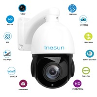 Inesun 4 Inch PoE IP PTZ Camera Super HD 5MP 2592x1944 18x Optical Zoom Outdoor Waterproof