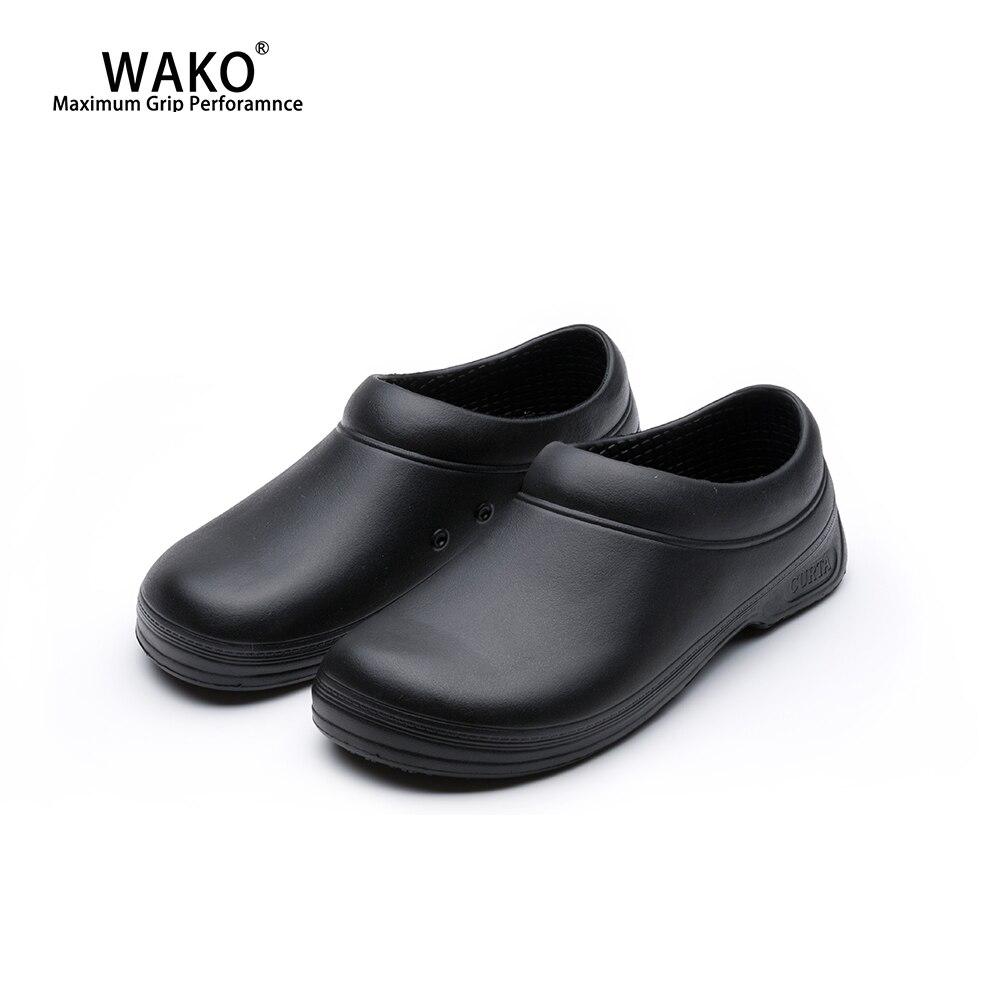 WAKO Chef Shoes Men Women Non Slip Restaurant Kitchen Safety Work Shoes Anti Skid Cook Sandals