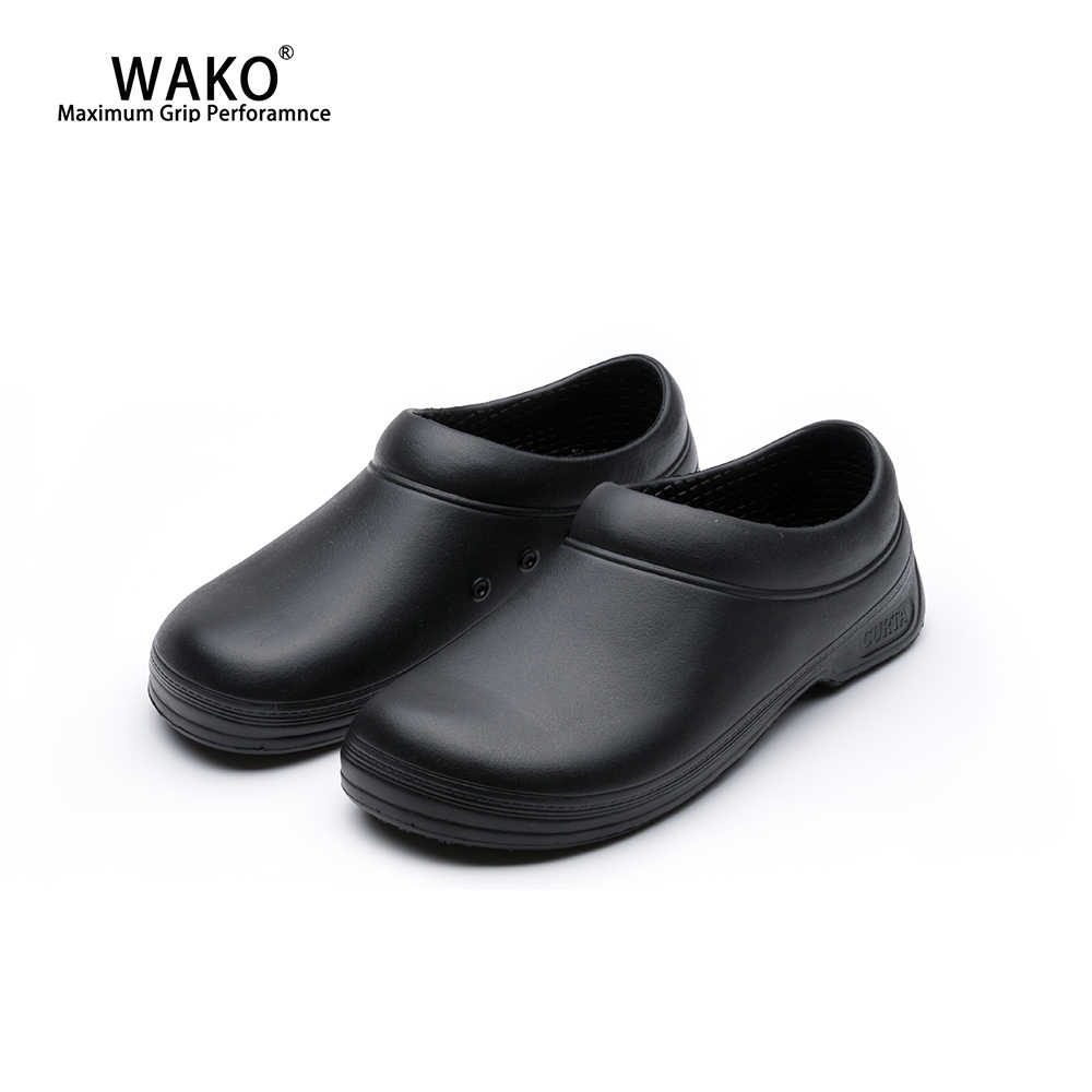 d3b6649e602 WAKO Chef Shoes Men Women Non-Slip Restaurant Kitchen Safety Work Shoes  Anti-Skid Cook Sandals Shoes Hotel Surgical Shoes 9031