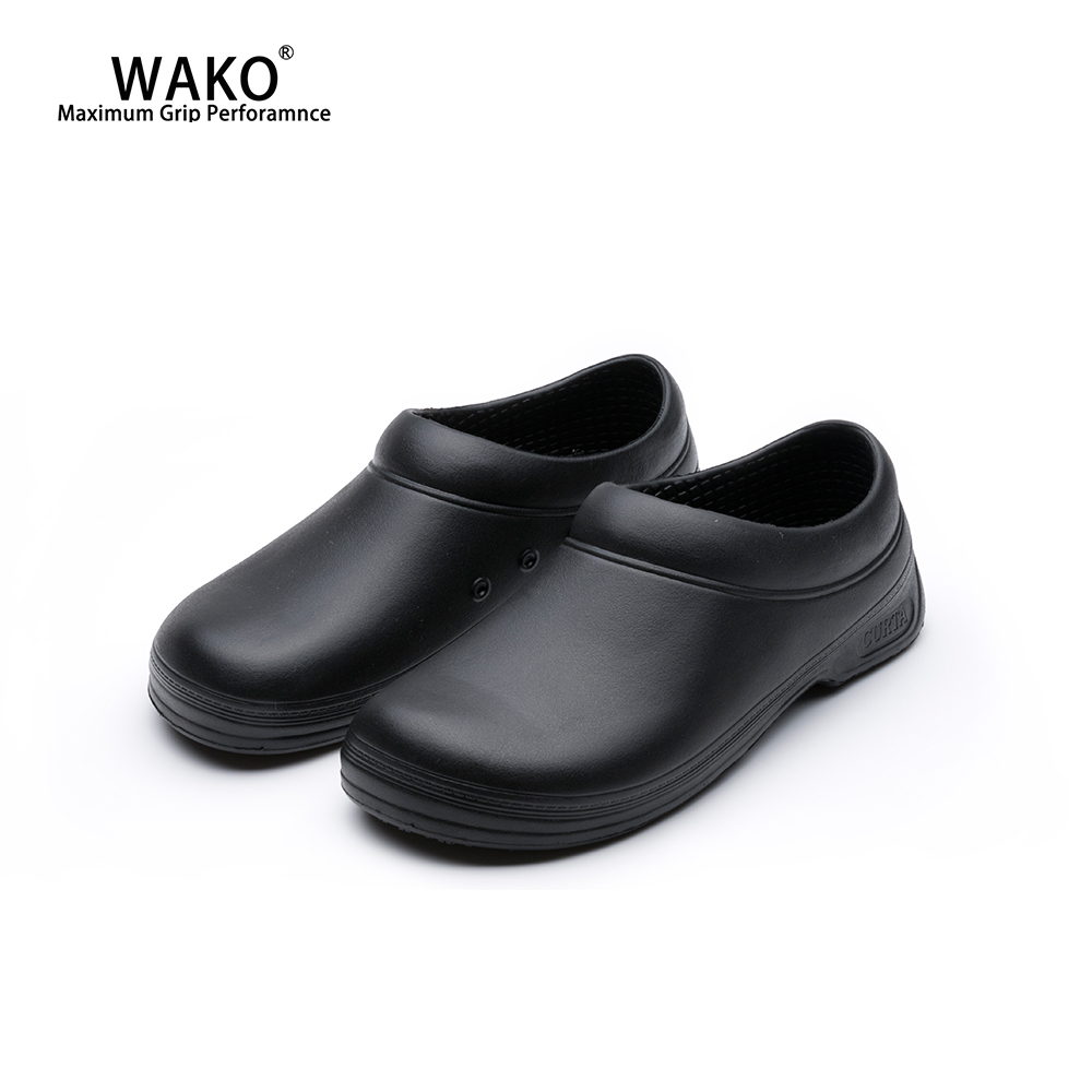 WAKO Men Chef Shoes Non-Slip Restaurant Kitchen Safety Work Shoes Anti-Skid Women Cook Shoes Slip On Hotel Surgical Shoes 9031