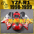 Motoegg Completed Set Fairing Fit YZF R1 YZF-R1 1998 1999 Star Red White Y18M32 Motorcycle ABS plastic