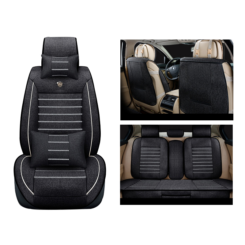XWSN linen car seat cover for toyota corolla chr auris rav4 mark 2 wish vitz camry 40 estima prius fortuner premio accessories наклейки digiface toyota hilux vitz rav4 camry prius