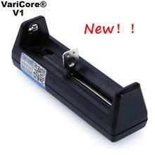 VariCore V1 Intelligent Chargeur de batterie Portable Petit pour 26650 21700 18650 26650 18500 16340 14500 18350 3.7 V batteries au lithium