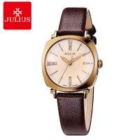 Chaude Femmes Bling Strass En Cuir Quartz Antique Montre-Bracelet Fille Mode Casual Simple Montres de Femmes Belle Horloge Relogio