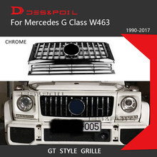 Para Mercedes Benz Classe G W463 GT Corrida Grill Grelha Vertical Amortecedor Dianteiro G500 G350 G55 1990-2017G wagon Carro Styling