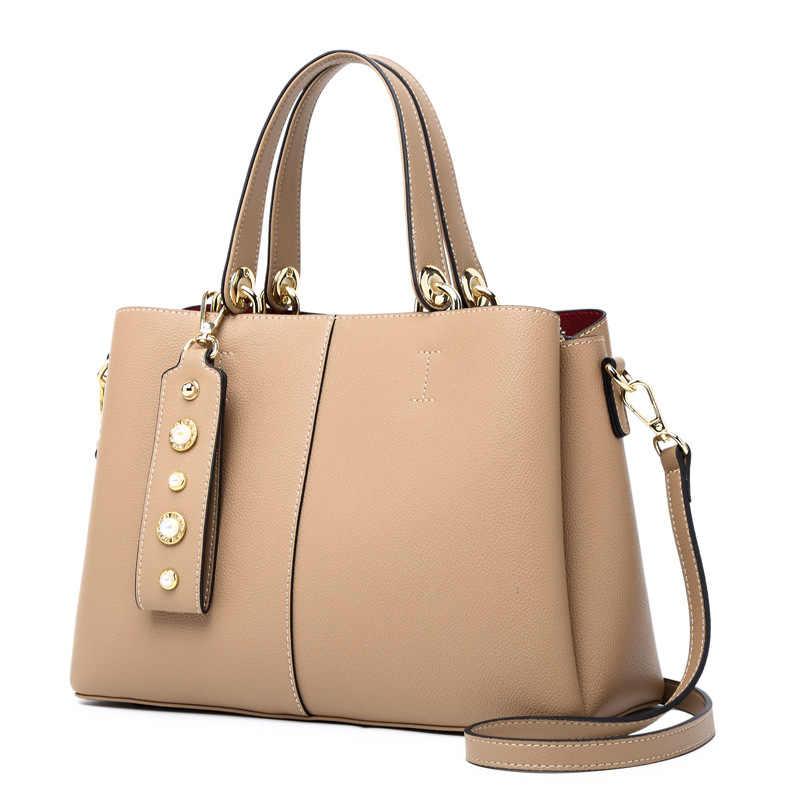 45f144141e 2018 New Luxury Women Bag Ladies Genuine Leather Crossbody Bags Handbags  Women Famous Brands Real Cow