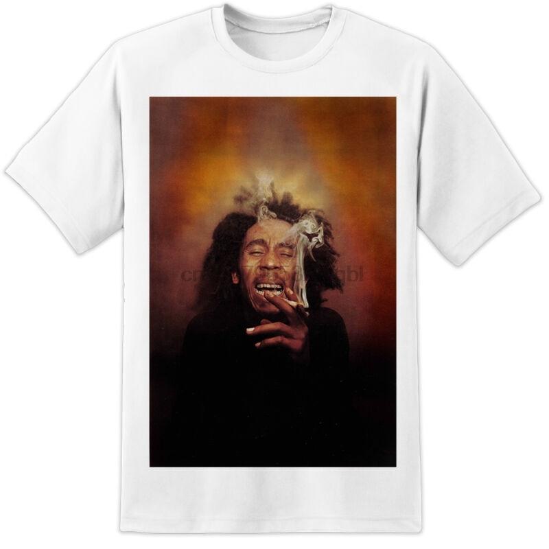 Bob Marley Smoke T Shirt Rasta Reggae Huge Print!! Nwa Wiz Drake Festival Gig A Great Variety Of Models