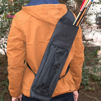Shoulder Archery Arrow Back Quiver Holder Bow Storage Bag Pouch Belt Strap Side Camo Outdoor Archery Bow and Arrow Quiver Side