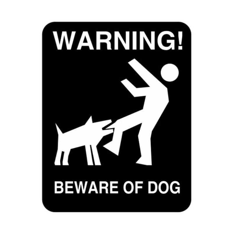 11CM*14CM BEWARE OF DOG To Remind The Individual Warning Car Stickers Vinyl Decal xin-109