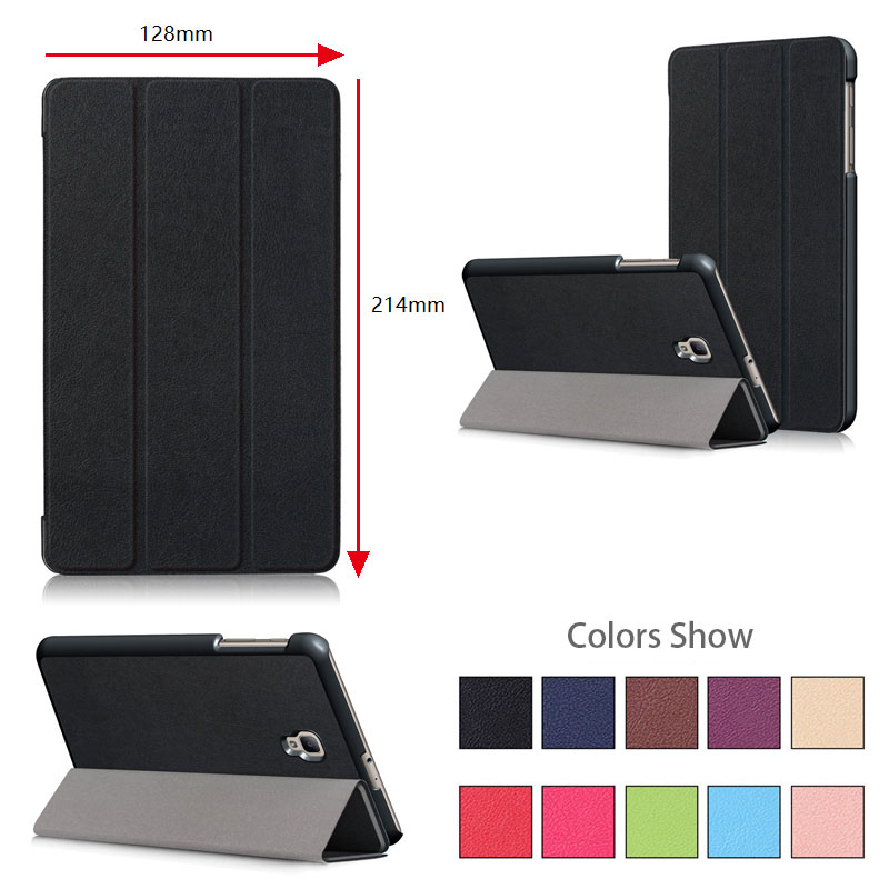 Magnet Leather Cover Stand Case For Samsung Tab A8.0 2017 T380, T385 8 inch Tablet Case