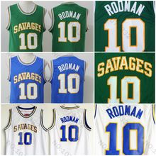 EDITEX Oklahoma Savages 10 Dennis Throwback Blue White College Basketball  Jerseys 4bdc70208