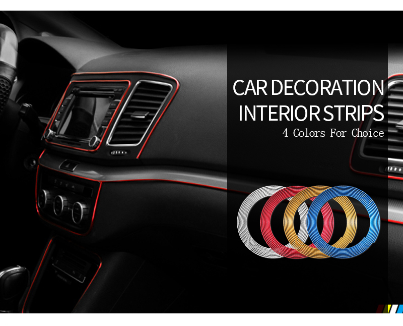 Image 2 - 5M/3M/1M Car Seal Accessories Styling Interior Exterior Decoration Door Strip Moulding Trim Dashboard Edge Universal Auto Chrome-in Interior Mouldings from Automobiles & Motorcycles